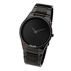 Police - Men's black round dial watch