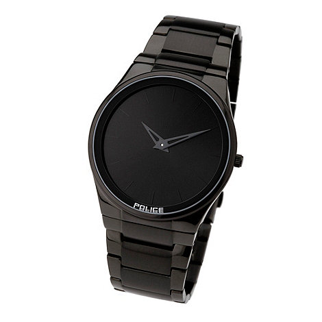 Police - Men+s black round dial watch