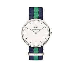 Daniel Wellington - Gents silver warwick navy/green nato strap watch