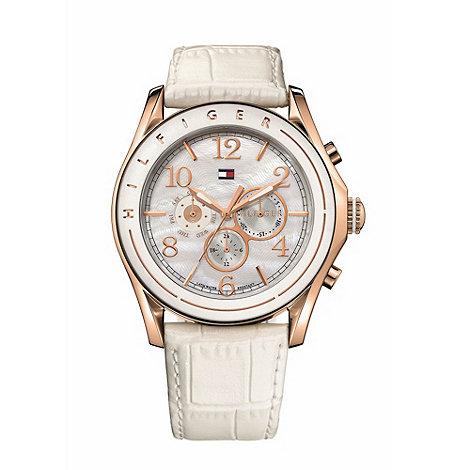 Tommy Hilfiger - Ladies white round case watch