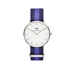 Daniel Wellington - Ladies silver swansea navy/blue nato strap watch