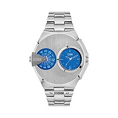 STORM - Gents lazer blue 'DUALMATIC' watch