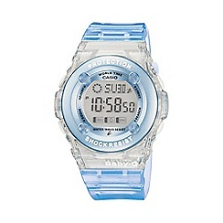 Casio - Ladies turquoise 'baby g' digital watch
