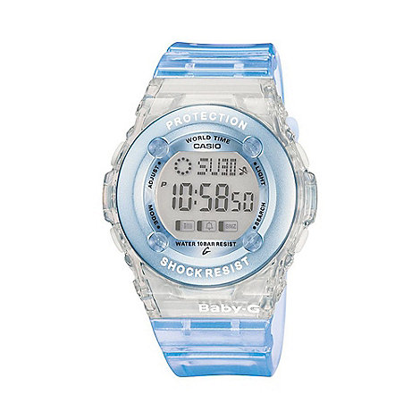 Baby-G - Ladies turquoise +baby g+ digital watch