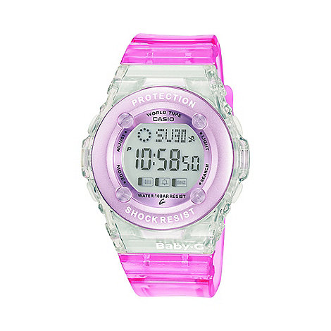 Baby-G - Ladies pink +Baby G+ digital watch bg-1302-4er