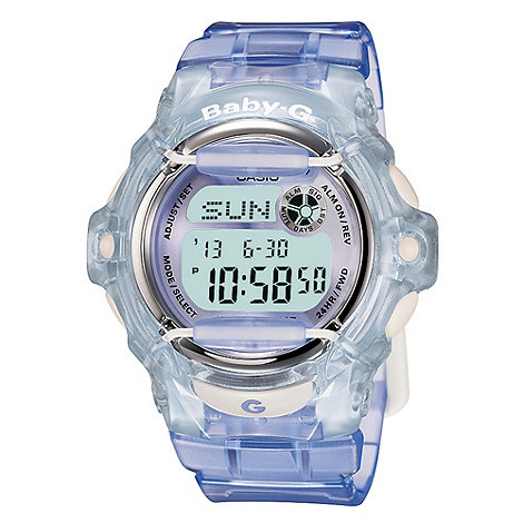 Baby-G - Ladies blue +baby g+ digital watch