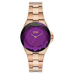 STORM - Ladies rose gold/purple 'CRYSTANA' watch