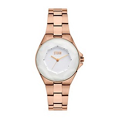 STORM - Ladies rose gold/white 'CRYSTANA' watch