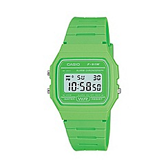 Casio - Unisex green octagonal digital watch