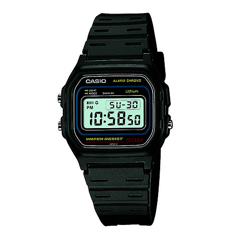Casio - Unisex black octagonal digital watch