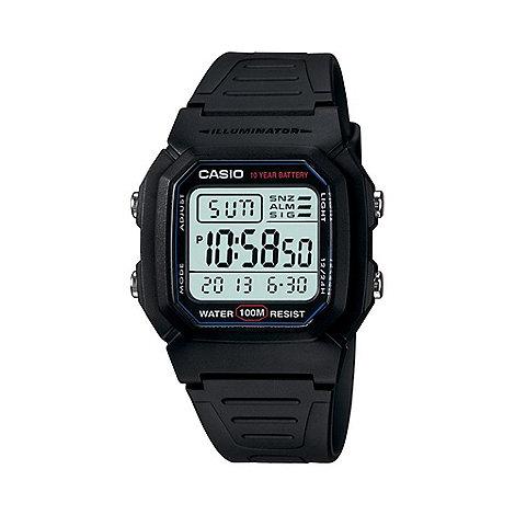Casio - Unisex black large digital watch w-800h-1aves