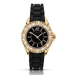 Sekonda - Ladies 'partytime' black diamante embellished watch