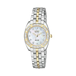 Citizen - Ladies silver two tone dial watch