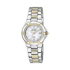 Citizen - Ladies silver two tone watch ew1534-57d