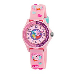 Peppa Pig - Girl's pink dial analogue display watch with pink silicone strap