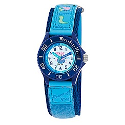 George Pig - Boy's blue dial quartz analogue watch with blue PU strap