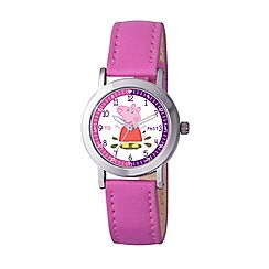 Peppa Pig - Girl's white dial analogue display watch and pink PU strap