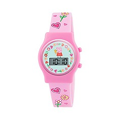 Peppa Pig - Girl's pink dial digital display watch and pink PU strap