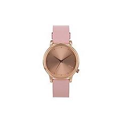 KOMONO - Ladies pastel pink strap watch