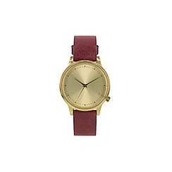 KOMONO - Ladies classic burgundy strap watch