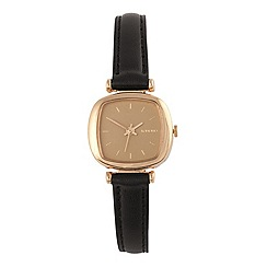 KOMONO - Ladies Moneypenny black strap watch