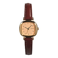 KOMONO - Ladies Moneypenny brown strap watch