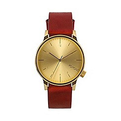 KOMONO - Men's Regal red strap watch