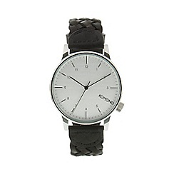 KOMONO - Men's woven chestnut black woven strap watch