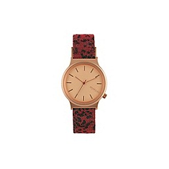KOMONO - Ladies wizard red leopard strap watch