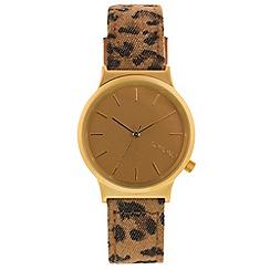 KOMONO - Ladies leopard print strap watch
