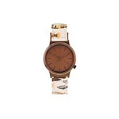 KOMONO - Ladies Ichthyology print strap watch