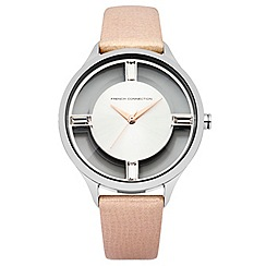 French Connection - Ladies cream strap watch