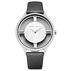 French Connection - Ladies black strap watch