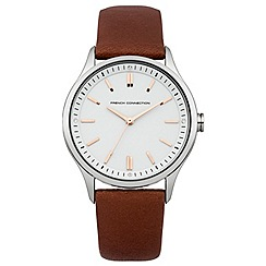French Connection - Ladies brown strap watch