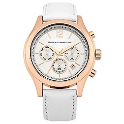 French Connection - Ladies white strap watch