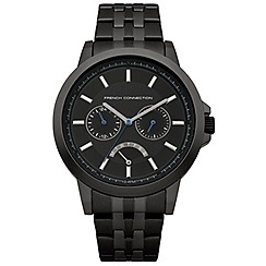 French Connection - Gents black bracelet watch