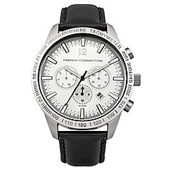 French Connection - Gents black strap watch