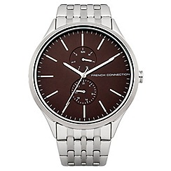 French Connection - Gents silver tone bracelet watch