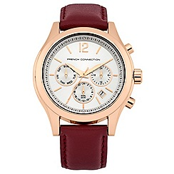 French Connection - Ladies red strap watch