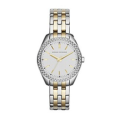 Armani Exchange - Ladies silver / gold 3 hand bracelet watch