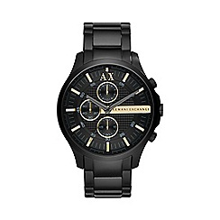 Armani Exchange - Mens black chronograph bracelet watch
