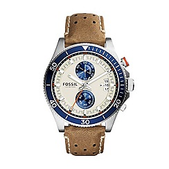 Fossil - Men's Wakefield chronograph with brown strap
