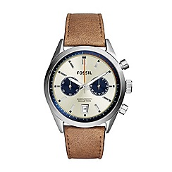 Fossil - Del Rey Chronograph Leather Watch in tan