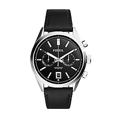 Fossil - Del Rey Chronograph Leather Watch - Black