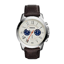 Fossil - Men's Grant chronograph with embossed strap