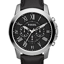 Fossil - Men's Grant chronograph with black strap fs4812