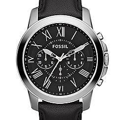 Fossil - Men's Grant chronograph with black strap fs4812