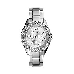 Fossil - Ladies new Stella watch in silver-tone es3588