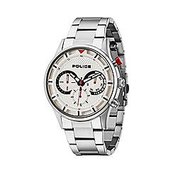 Police - Men's silver dial silver bracelet strap watch
