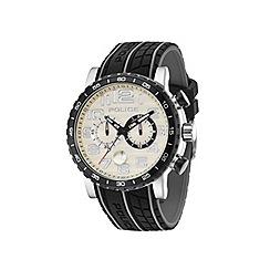 Police - Men's grey dial black silicon strap watch